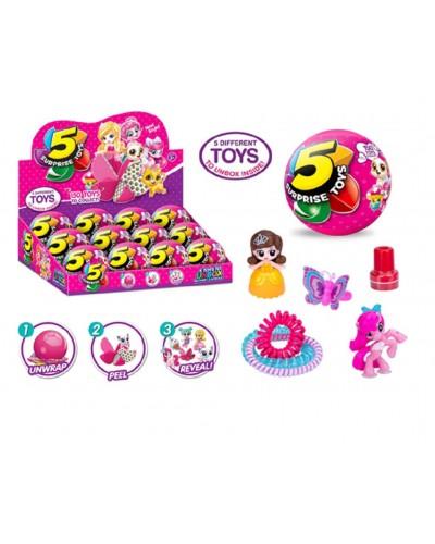 Герои 521 (12шт/2) шар состоит из 5 сегментов в каждом игрушка, цена за 12 шт в дисп. боксе 35*26,2*