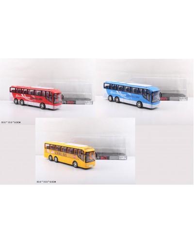 Автобус инерц. 828-A1/A2/A3  3 вида, под слюдой 33*13*9см