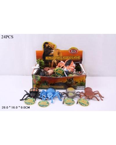 Животные резиновые 7427 Пауки в боксе 27*15*8,5см, игр-10см/цена за бокс