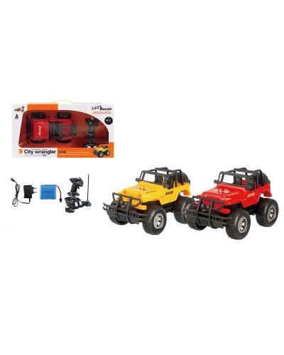 Машина-джип аккум р/у G03032R  2 цвета, пульт на батар., в кор. 27*16*15,5см