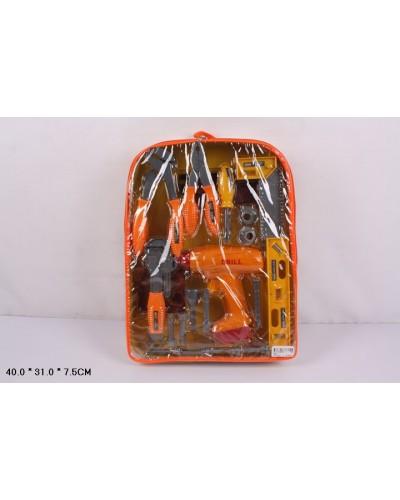 Набор инструментов 2092  дрель, плоскогубцы, отвертка, в рюкзаке 40*31*7,5см