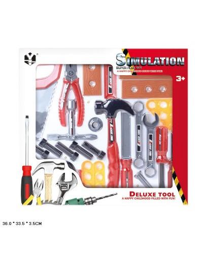 Набор инструментов H611C   отвертка, молоток, плоскогубцы и т.д. в кор 36*33,5*3,5 см