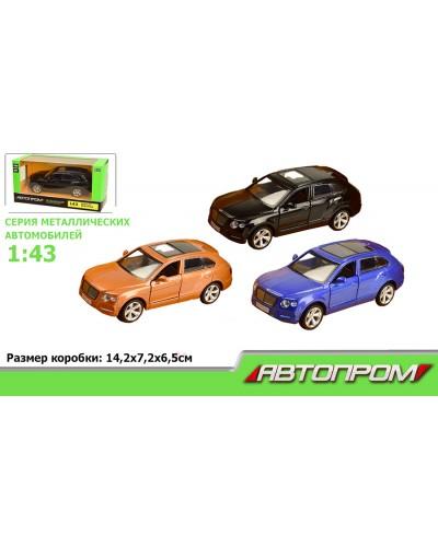 """Машина металл 67332 """"АВТОПРОМ"""",  BENTLEY BENTAYGA, откр.  двери, в кор. 14,2*7,2*6,5см"""