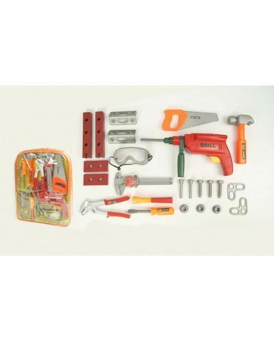 Набор инструментов 2082 молоток, пила, дрель, в рюкзаке 31*7*39 см