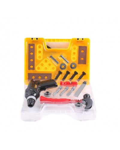 Набор инструментов T6800C дрель, молоток  и т.д. в пласт. чемодане 31*22*8 см