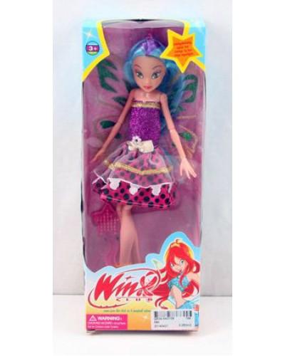 "Кукла ""W"" 590   3 вида, расческа,   в кор. 28*10,5*5см"