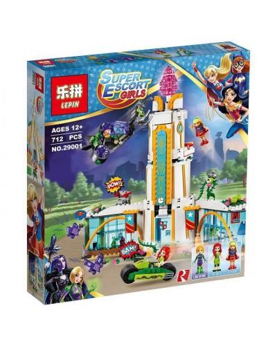Конструктор LEPIN SUPER HERO GIRLS 29001 ШКОЛА СУПЕРГЕРОЕВ, 712дет., в собр.коробке 47,5*37,