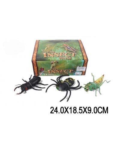 Животные S3 насекомые, /12 шт в боксе/ в боксе 24*18, 5*9см/ цена за бокс/