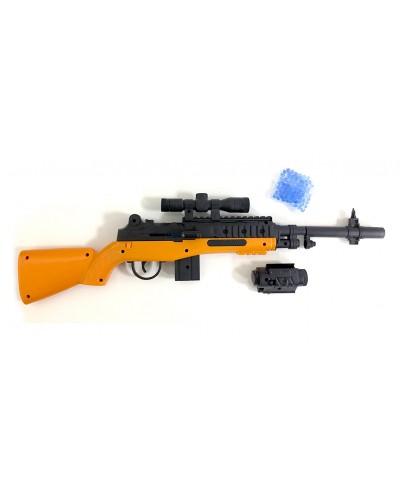 Автомат M98-1 прицел, лазер, гелевые пульки, в пакете 37*11*3,5см