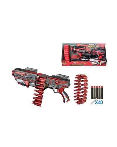 Бластер батар.FJ843 40 поролон.патронов в комплекте, магазин, в кор.66*47*64см