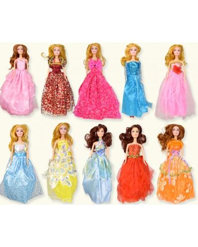 """Кукла типа """"Барби"""" ZQ20221 10 видов, в бальном платье, в пакете 13*30*4см"""