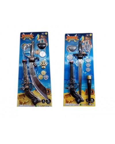 Пиратский набор 999-12/17 нож, пистолет, аксессуары, на планш 22*55см