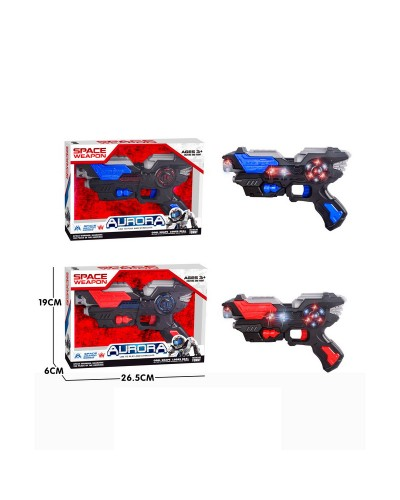 Пистолет муз. KT8889-F16 батар., свет, звук, в коробке 26,5*19*6см