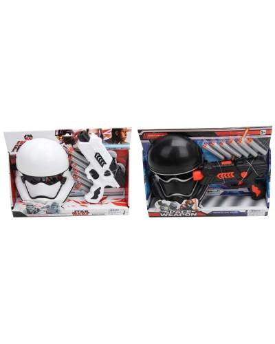 Игровой набор  930-E/90  бластер с полон.снарядами, маска, на планш. 34,5*7*24,5