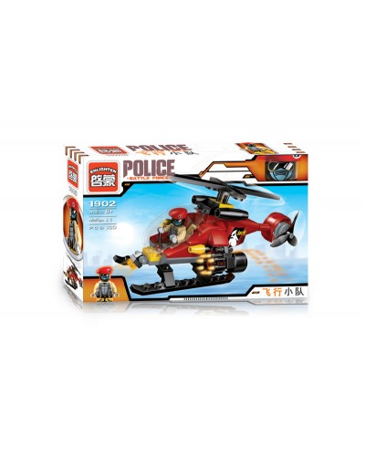 """Конструктор """"Brick"""" 1902 """"Police""""в разобр. кор.,100дет.,  22*14,5*4,5см"""