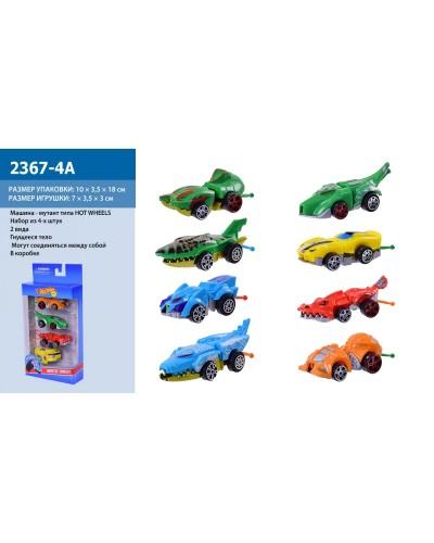 Машина 2367-4A 4шт/кор, микс, в коробке 25*10,5*3,5см
