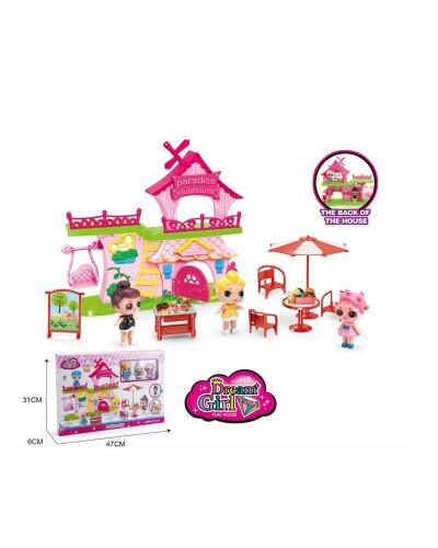 """Домик """"L"""" 588-5 с куколками, мебелью, аксессуарами, в кор. 31*6*47 см"""