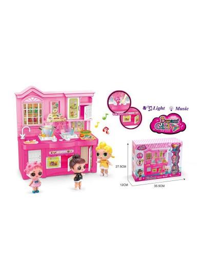 """Кухня """"L"""" 588-6 с куколками, аксессуарами, в кор. 27,5*12*35,5 см"""
