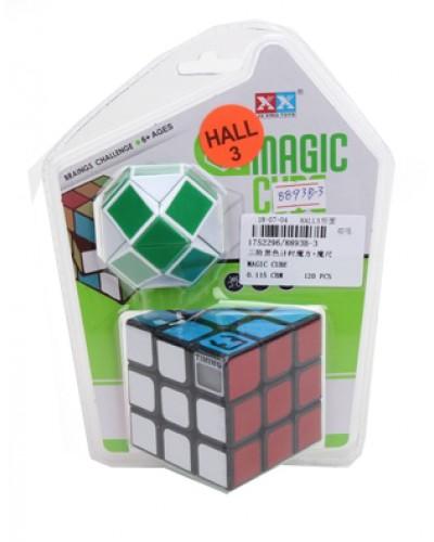 Кубик-логика 8893B-3 с таймером,3*3,плюс логика-змейка,на блистере 19*14*5см