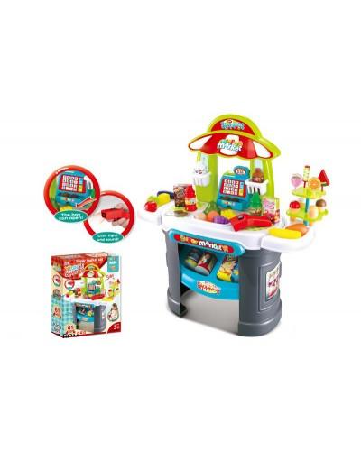 """Набор """"Супермаркет""""008-911 прилавок, продукты, кассовый аппарат в кор.69*25,3*67,6 см"""