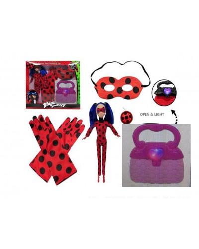 "Кукла ""M"" TM534 свет, сумочка, маска, перчатки, талисман, в кор. 37*8*31см"