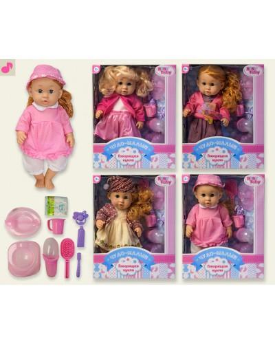 Кукла функц 318006B17 4вида, РУС чип, пьет/пис, горшок, бутыл, расческа…., в кор.28*