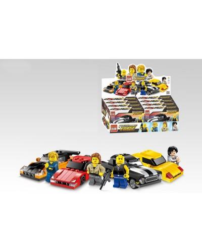 """Конструктор """"Brick"""" 1225-1228 """"Racing Force"""" цена за 8шт в дисплей боксе 37*19*12см"""
