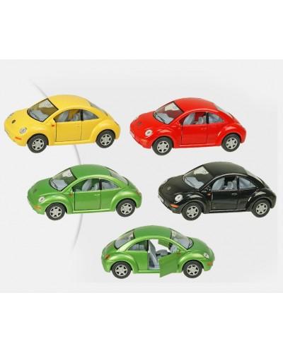 """Машина металл """"KINSMART"""" KT5028W """"Volkswagen New Beetle"""", в коробке 16*8*7,5см"""