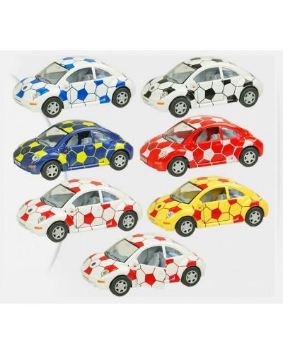 """Машина металл """"KINSMART"""" KT5028WR """"Volkswagen New Beetle"""", в коробке 16*8*7см"""