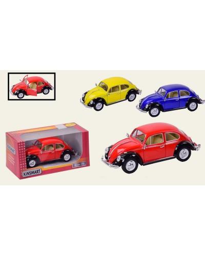 """Машина металл """"KINSMART"""" KT7002WE """"1967 Volkswagen Classical Beetle в кор. 23*8*"""