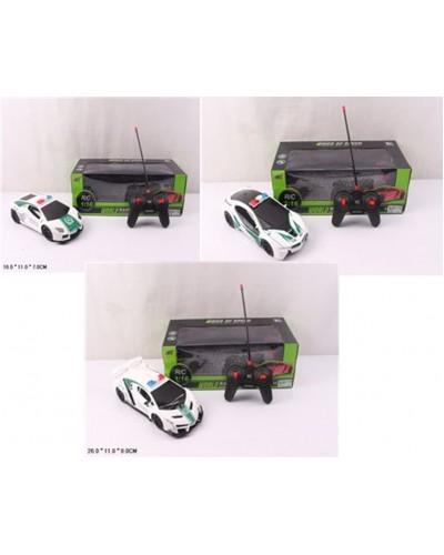 Машина батар. на р/у H338-35/6/7 (36шт/2) 3 вида, в кор.26*11*7см