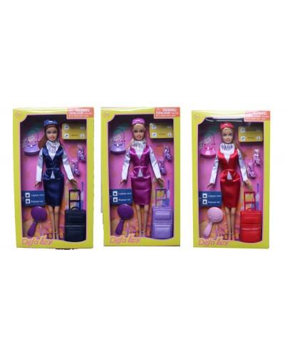 """Кукла """"Defa Lucy"""" 8286  3 вида чемодан,аксессуары в кор.32,5*11*5,5см"""
