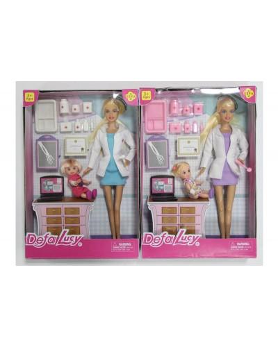 "Кукла ""Defa Lucy"" 8348 2 вида, доктор, с куколкой, с инструментами, в кор.29см"
