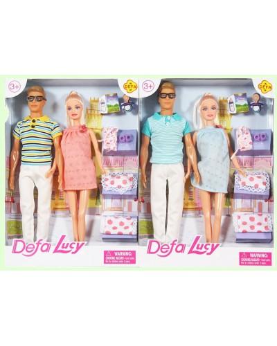 """Кукла """"Defa Lucy"""" 8349 2 вида, беременная, с кеном, с пеленками, в кор.23*5*32см"""