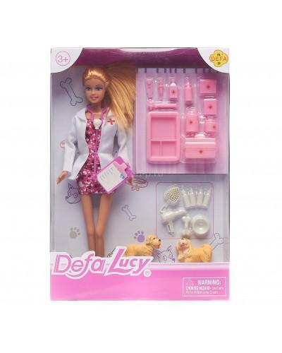 """Кукла """"Defa Lucy""""Ветеринар"""" 8346A  с питомцами, набором для ухода, в кор.23* 32,5* 5см"""