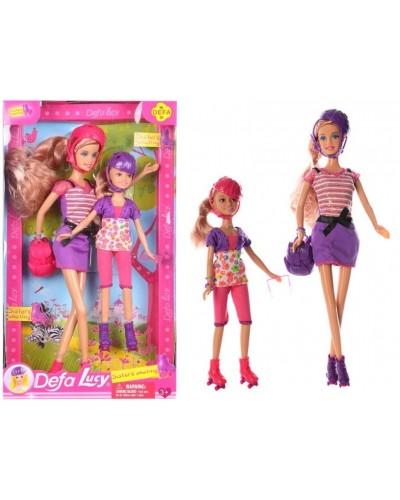 "Кукла ""Defa Lucy"" 8130 2 вида, сестрички, на роликах, аксесс, в кор."