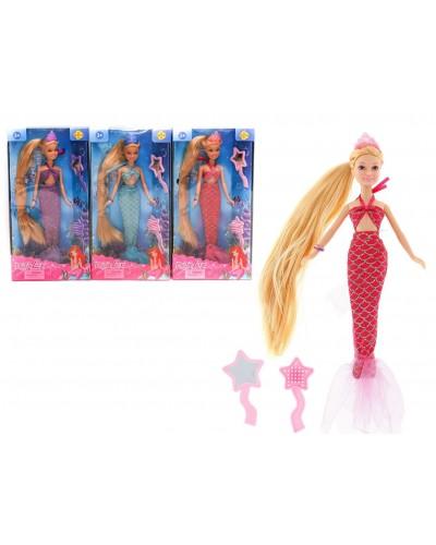 "Кукла ""Defa Lucy"" 8236 3 вида, русалочка, с расческой, аксесс, в кор."