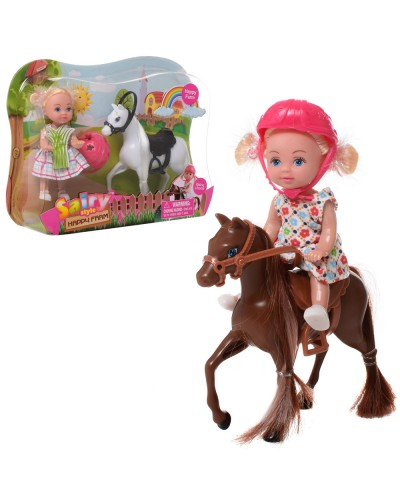 "Кукла ""Defa Lucy"" 8390 2 вида, куколка с лошадью, в кор."