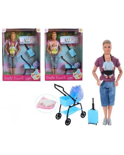 "Кукла ""Кен""Defa Lucy"" 8369 2 вида, младенец, коляска, аксесс, в кор."