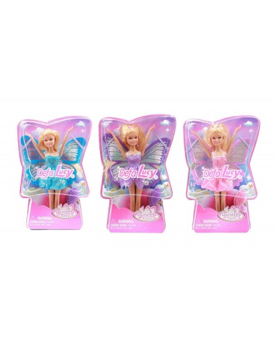 """Кукла """"Defa Lucy"""" 8121 с крылышками, в слюде 17*4,5*25,5см"""