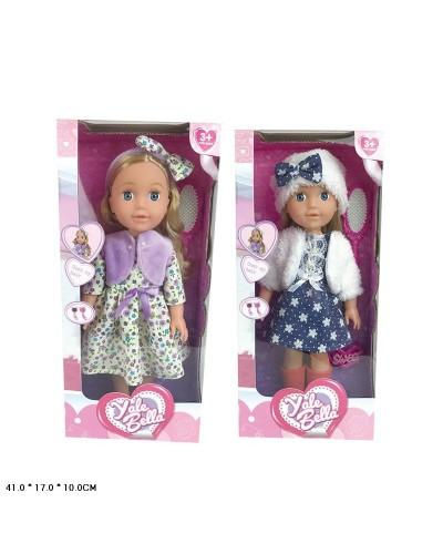 """Кукла """"Bella"""" YL1980C 2 вида,расческа,заколка, в кор. 41*17*10см"""