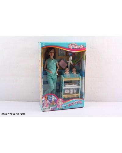 "Кукла ""Доктор"" JX200-11 младенцы, мед столик, аксесс, в кор.33*6,5*22см"