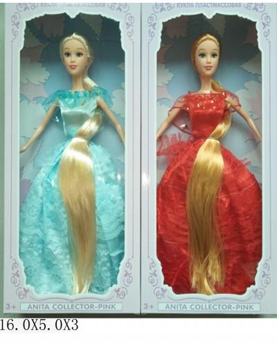 """Кукла типа """"Б"""" A610-F2 2 вида,в бальном платье,с длинными волосами,в кор. 16*5*32"""