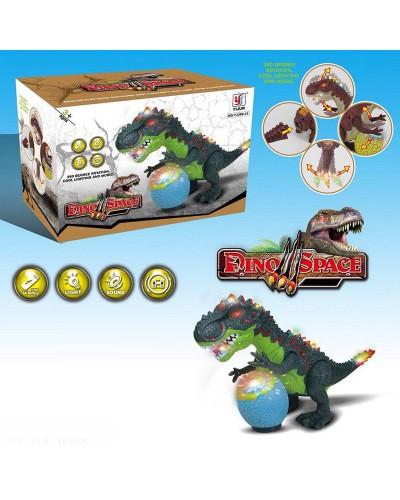 Животные YJ388-33  динозавр, свет, звук, ходит, в коробке 33*11,5*19см