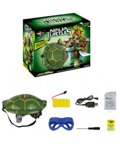 Набор оружия Леонардо Черепашки - ниндзя с маской на аккумуляторе водяные пули RPC, в кор 34*28*18см