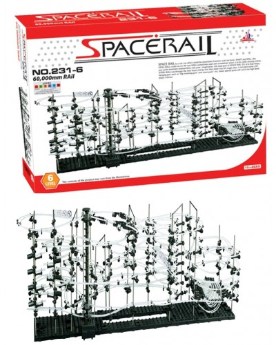 Игровой набор SpaceRail 231-6 лабир, 8шаров, 1155детал, длин. трассы 60м, в кор 53*37*8,2см.