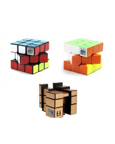 Кубик логика 043/040/041 3*3, с таймером, 3 вида, на блистере 17*21см