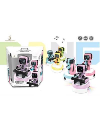 Робот батар. 610-1 6 цветов, свет, звук, в кор. 19*15*20см