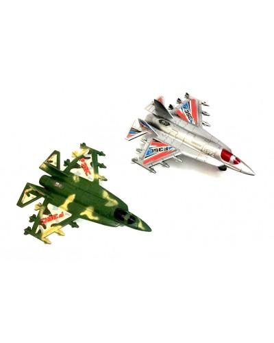 Самолет инерц 059-15/17 2 вида микс, в пакете 25*18