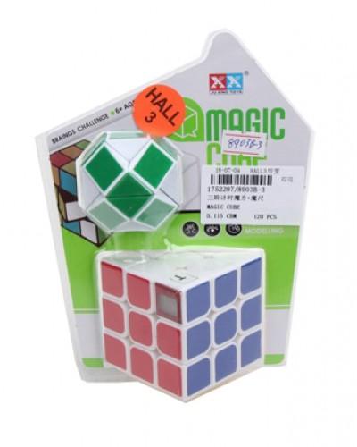 Кубик-логика 8903B-3 с таймером, 3*3, плюс логика-змейка, на блистере 19*14*5см